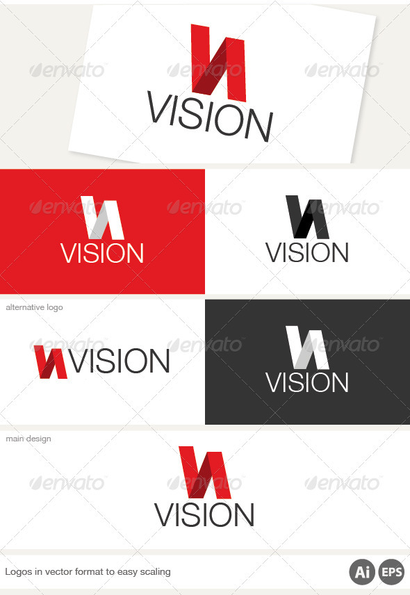 Vision Logo - Letters Logo Templates