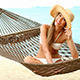 Happy Woman on Hammock at Exotic Beach - VideoHive Item for Sale