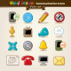 Vector Hand Draw Communication Icon Set - GraphicRiver Item for Sale