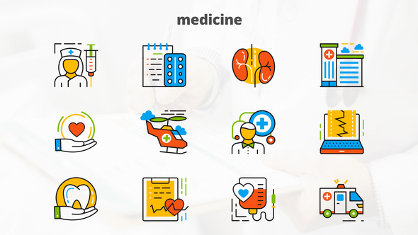 Medicine And Healthcare – Flat Animated Icons Download