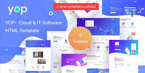 YOP - Cloud HTML Template by TheMazine