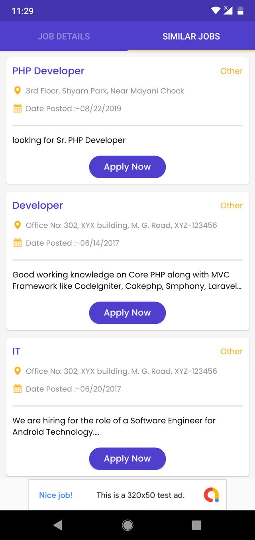 Android Jobs App (Job Seeker, Job Provider, Naukri, Shine, Indeed, Resume)