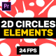 2D Circles Elements // MOGRT - VideoHive Item for Sale