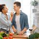 loving couple is preparing the proper meal - PhotoDune Item for Sale