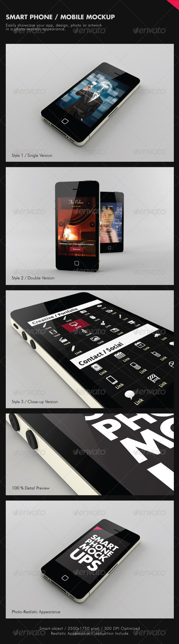 Smart Phone / Mobile Mock-ups - Mobile Displays