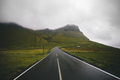 Mountain Road In Faroe Islands - PhotoDune Item for Sale