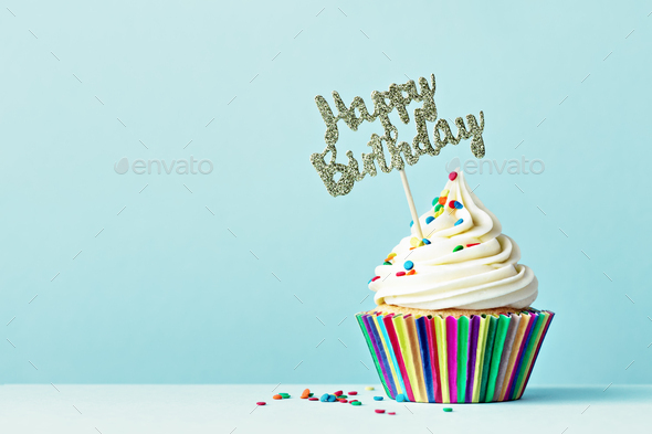 Cool Happy Birthday Cupcake Stock Photo By Ruthblack Photodune Personalised Birthday Cards Cominlily Jamesorg