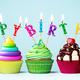 Colorful happy birthday cupcakes - PhotoDune Item for Sale