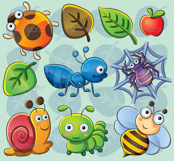 Cute Bugs - Animals Characters