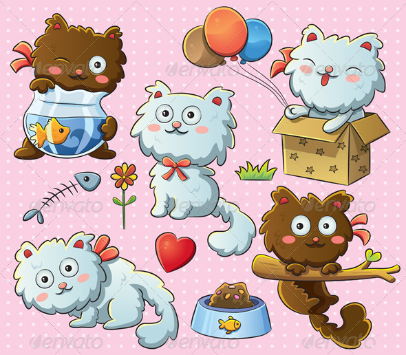Cute Kitty - Animals Characters