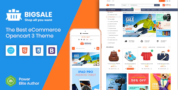 BigSale - The Multipurpose Responsive SuperMarket Opencart 3 Theme With 3 Mobile Layouts