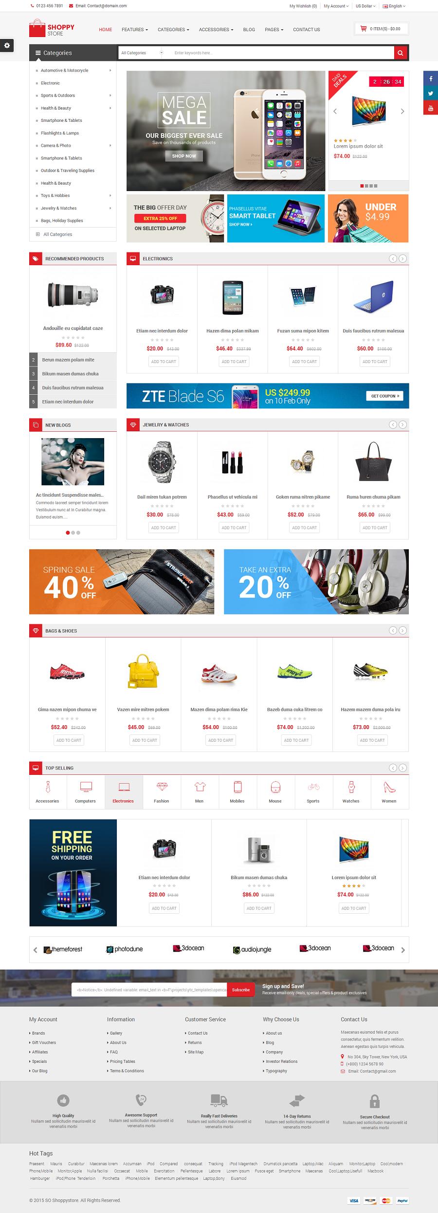 ShoppyStore - Responsive Multipurpose Marketplace OpenCart 3 and 2 x Theme