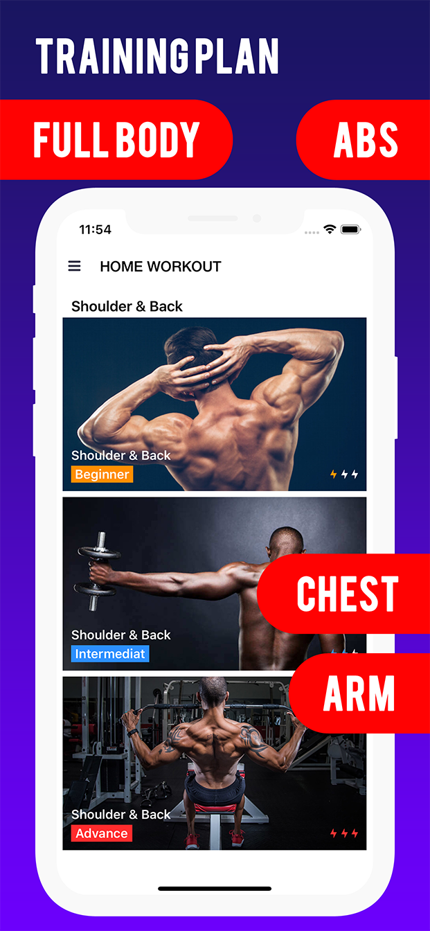 Home Workout Fitness Challenge - 99 Fitness Gym - Native Android mobile app