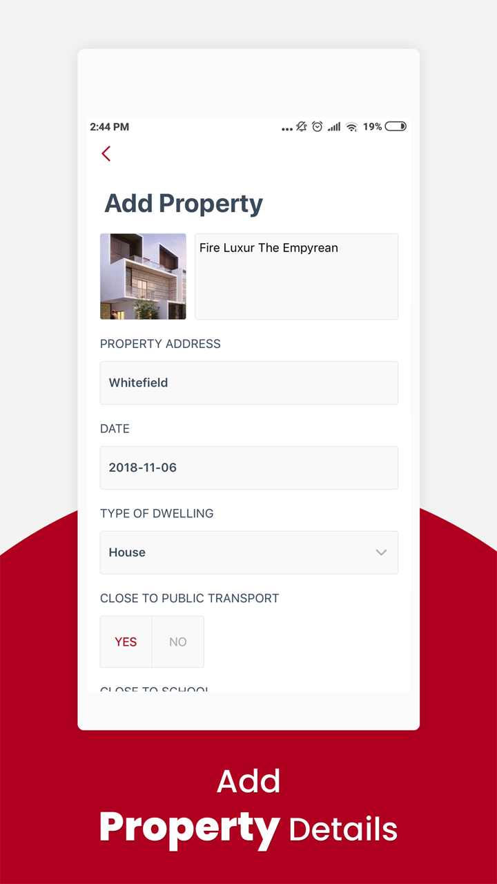 Property Checklist for Next Home - Native Android mobile app