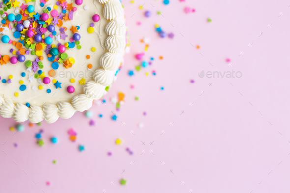 Prime Birthday Cake With Sprinkles Stock Photo By Ruthblack Photodune Funny Birthday Cards Online Elaedamsfinfo