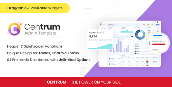 Centrum - Responsive Admin Template by stillidea