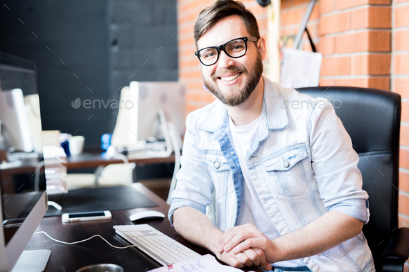 Contemporary Business Owner - Stock Photo - Images