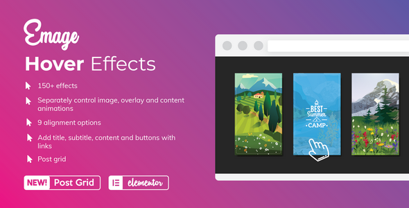Download Emage – Image Hover Effects for Elementor Free Nulled