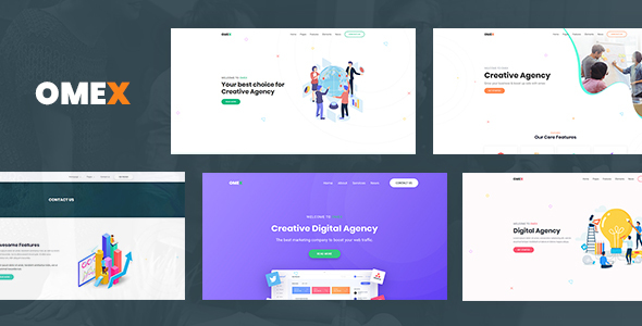 Marvelous Omex - Startup and SaaS Template