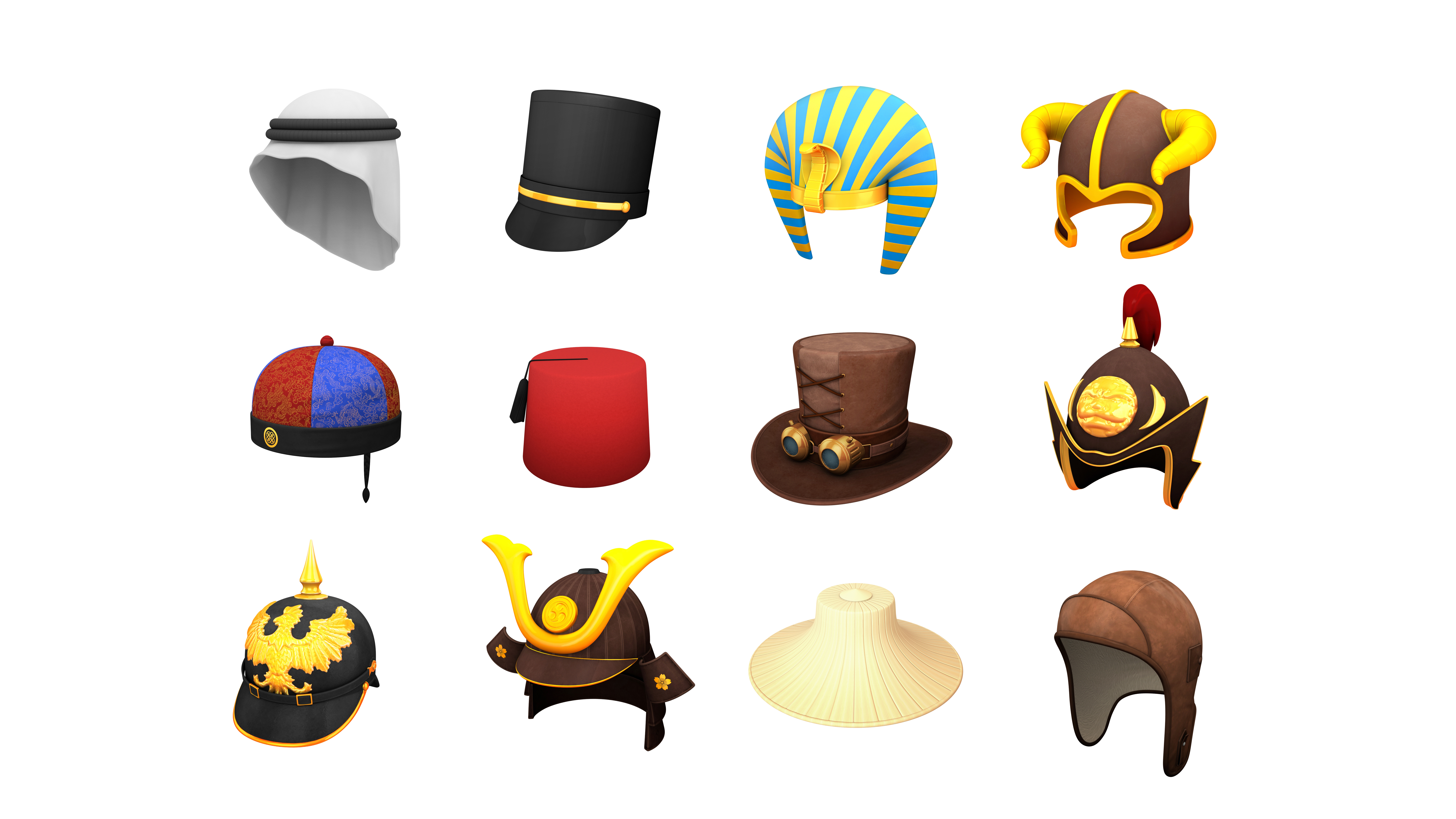 Hats and Helmet Pack 7