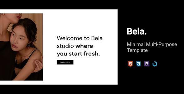 Bela — Minimal Multi-Purpose Template by TemplateMilk
