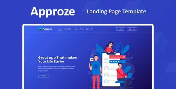 Approze – Bootstrap 4 Responsive Startup and Web App HTML Template by pxdraft