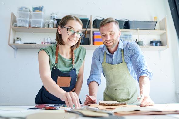 Teamwork in workshop - Stock Photo - Images