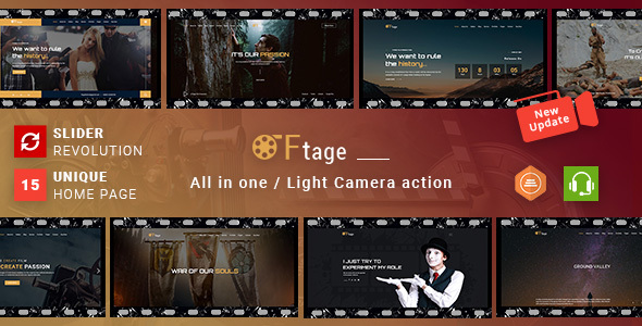 Movie Production & Film Studio WordPress Theme - Ftage