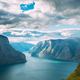 Sogn And Fjordane Fjord, Norway. Amazing Summer Scenic View Of S - PhotoDune Item for Sale