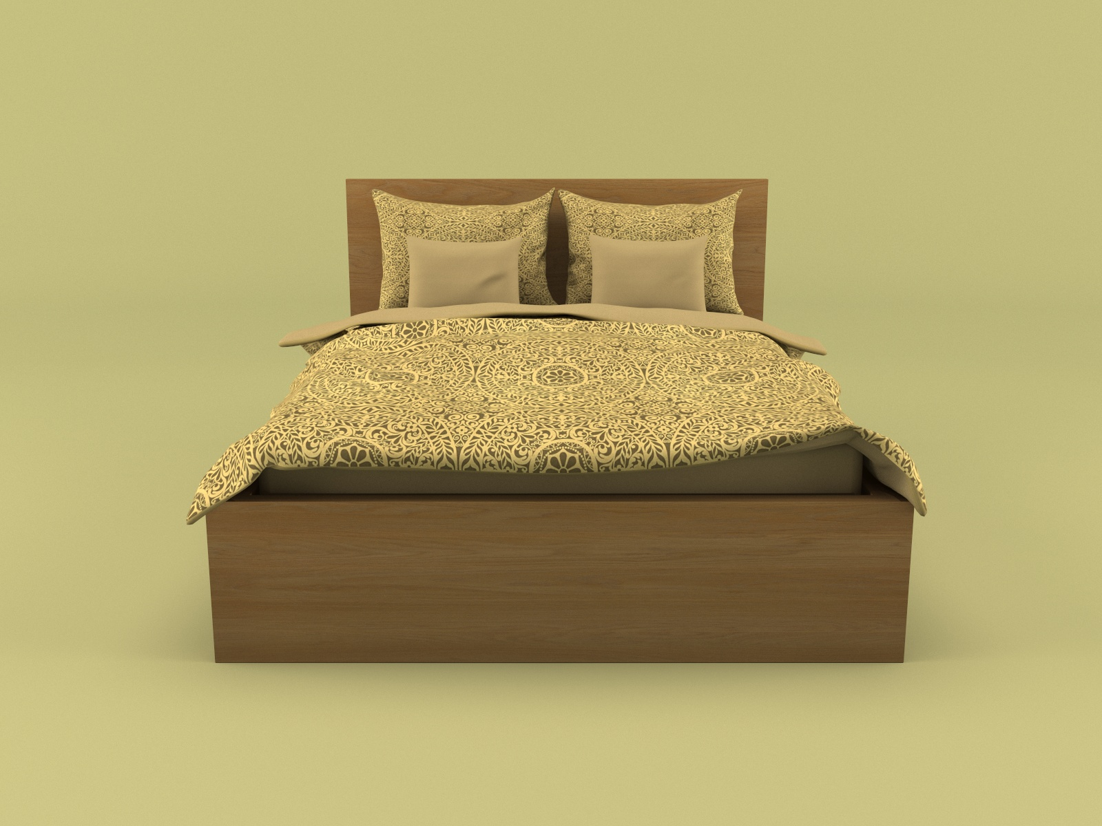 Ikea Malm Bed 3d Model Low Poly