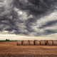 Dark clouds over the bales of hay - PhotoDune Item for Sale