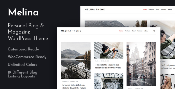 Melina - Personal Blog & Magazine WordPress Theme