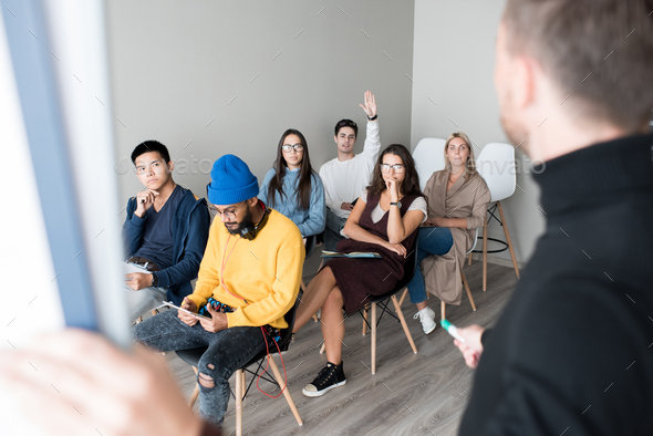 Young audience at training class - Stock Photo - Images