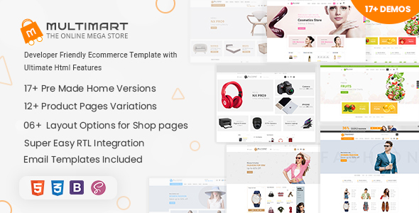 Multimart - eCommerce HTML Template
