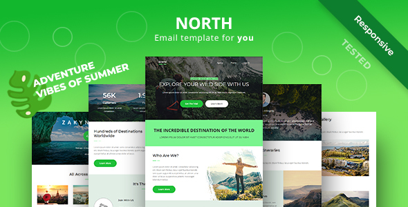 North - Adventure Responsive Email Newsletter Template by yemail