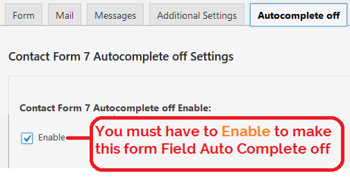 Contact Form 7 Autocomplete off