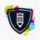 Bright Circles Shield Creative Logo Set - GraphicRiver Item for Sale