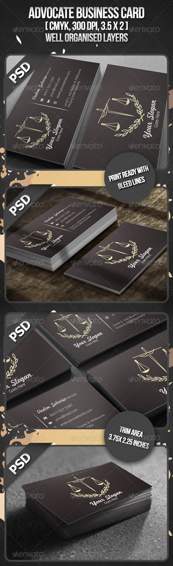 Advocate Business Card - Industry Specific Business Cards