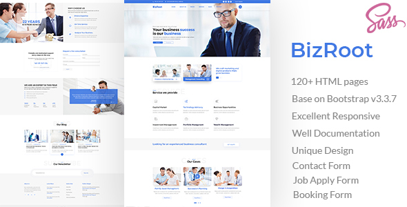 BizRoot - Business and Finance HTML Template