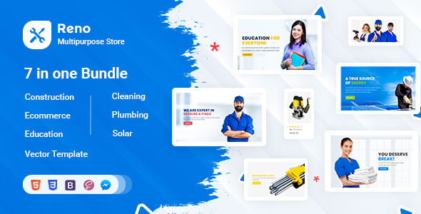 Reno - Tools Store , Construction & Multipurpose Bootstrap 4 & 5 HTML Template