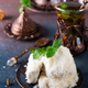Traditional Turkish cotton candy called Pismaniye in vintage plate with tea on stone - PhotoDune Item for Sale