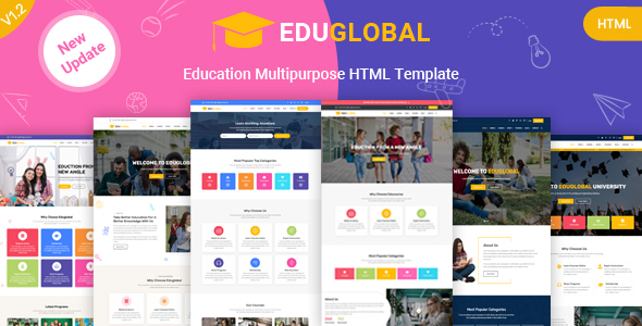 Education LMS and Courses HTML Template for Educational Site - Eduglobal by anil_z