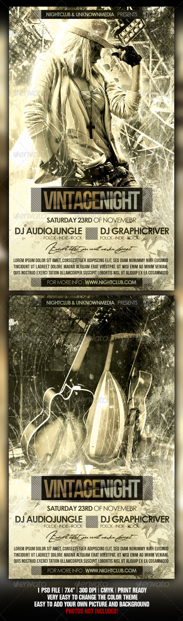 Vintage Concert / Party - Flyers Print Templates