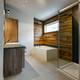 Modern bathroom with barn wood general view - PhotoDune Item for Sale