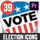 Flat USA Election Icons | MOGRT for Premiere Pro - VideoHive Item for Sale