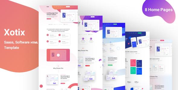 Xotix - Software & Saas Landing Page Template
