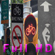 Bike Path Signs Pack in New York City Full HD - VideoHive Item for Sale