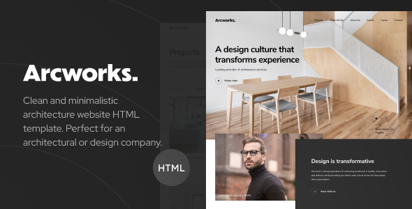 Arcworks — Architecture & Interior design portfolio HTML Template by Dymix_Themes