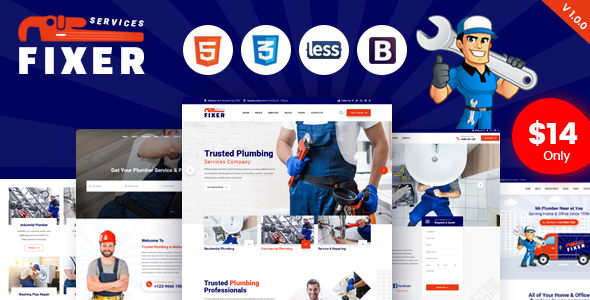 Fixer - Plumbing & Repair Services HTML Template