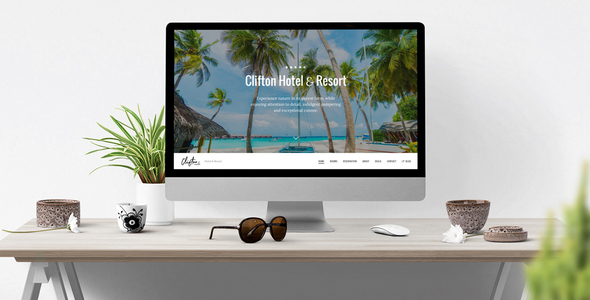 Clifton Hotel - One-Page Parallax HTML5 Travel Booking Template